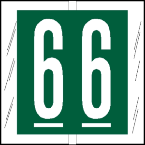 Tabbies 81500 Col R Tab Numeric Labels 6